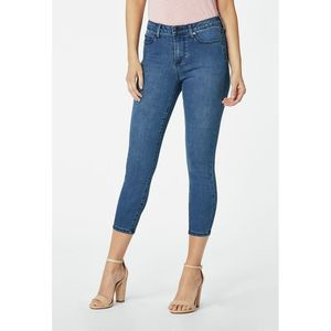 Justfab Blue High Waisted  Crop Jeans-27